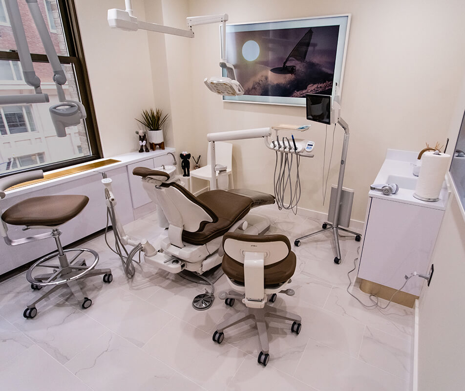 The surgery room at Empire's dental office